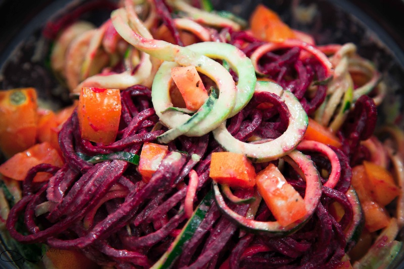 Spaghetti 2 couleurs à la sauce au citron