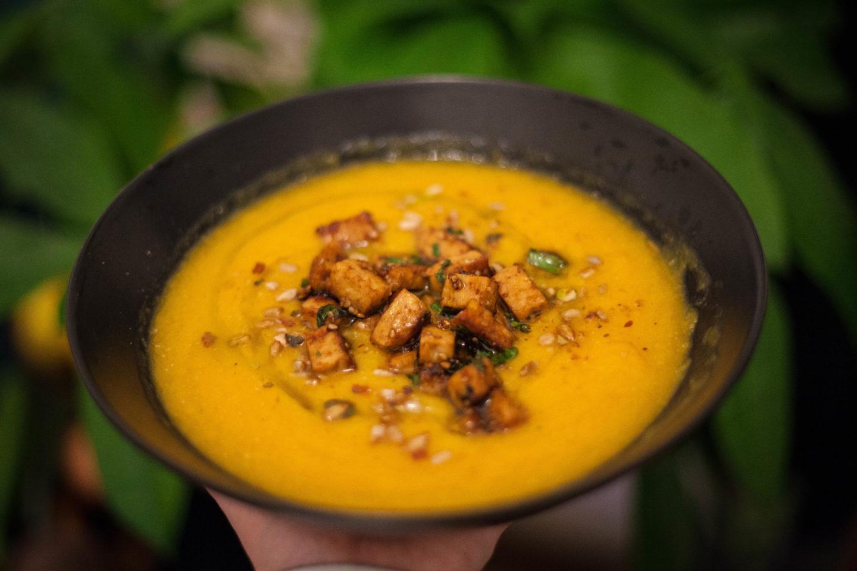 La soupe de Butternut à l'asiatique